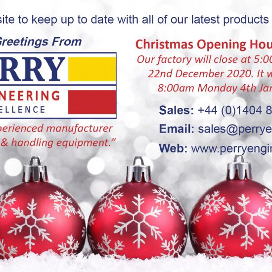 Seasons Greetings from Perry Engineering Services Ltd.